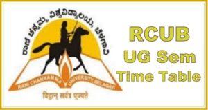 RCUB Exam Time Table 2021