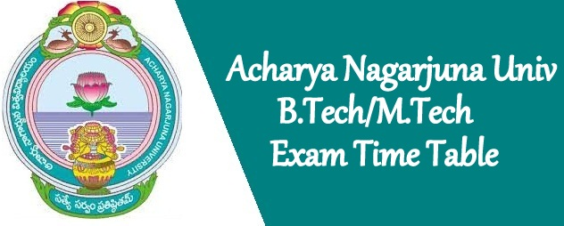 ANU B.Tech sem time table