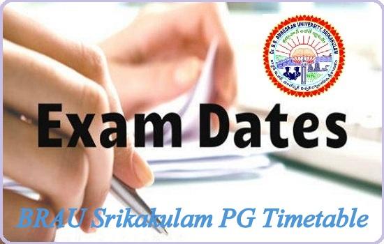 BRAU Srikakulam PG Timetable
