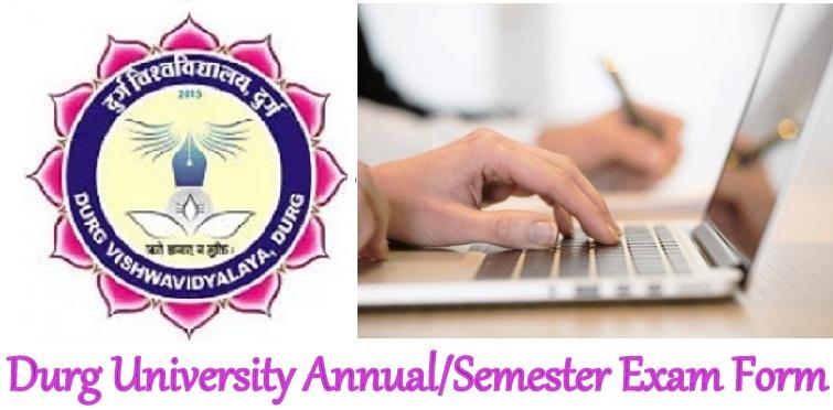 Durg Univ Exam Form 2022