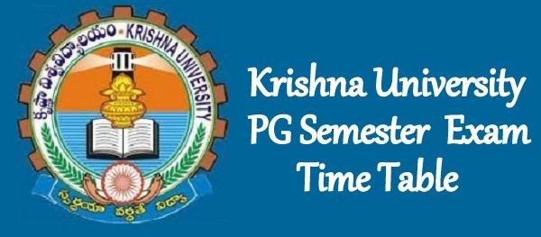 Krishna University PG Time Table 2021