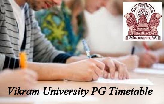 Vikram University PG Timetable