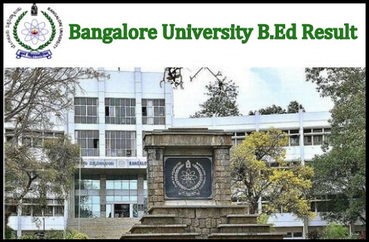 Bangalore University B.Ed Result 2021