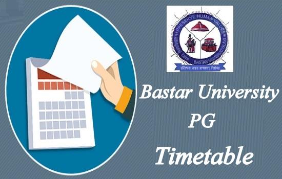 Bastar University PG Time Table