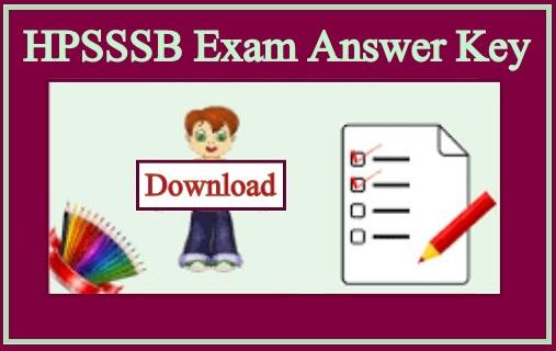 HPSSSB Exam Answer Key