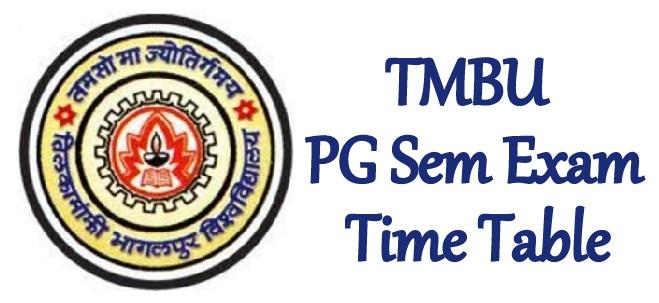 TMBU PG Time Table 2021