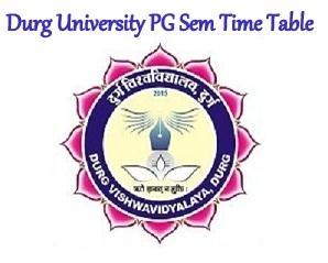 Durg University PG Time Table 2021