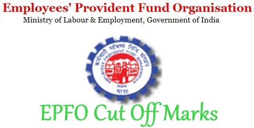 EPFO Cut Off Marks