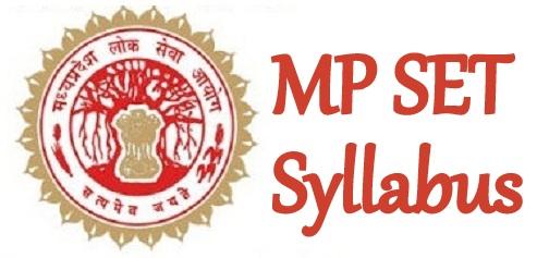 MP SET Syllabus 2021