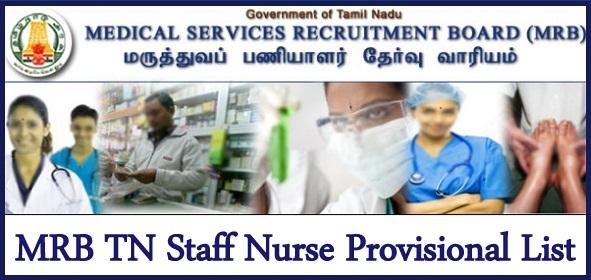MRB TN Nurse Result 2021