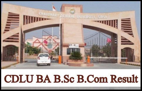 CDLU BA B.Sc B.Com Result
