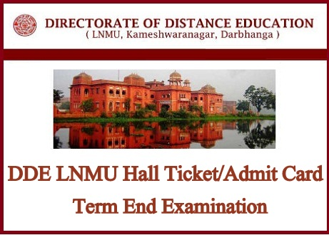 DDE LNMU Hall Ticket 2020