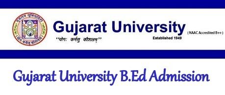 Gujarat University B.Ed Admission 2021