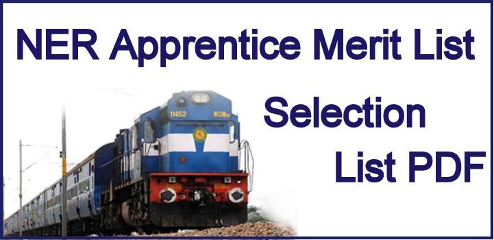 NER Apprentice Merit List 2022