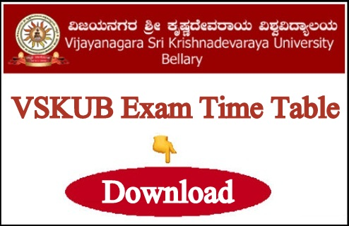 VSKUB Exam Time Table 2021