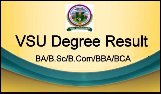 VSU Degree Result