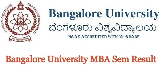 Bangalore University MBA Result 2020