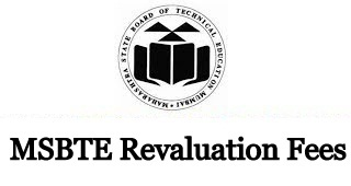 MSBTE Revaluation Fees 2021