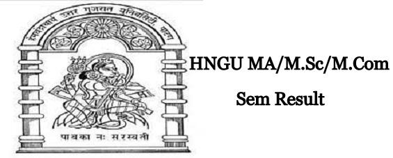 HNGU PG Result 2020
