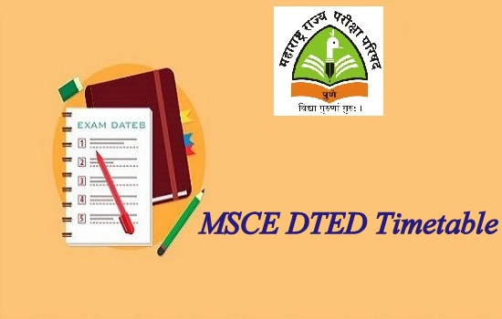 MSCE DTED Time Table 2020