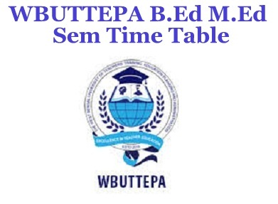WBUTTEPA Time Table 2021