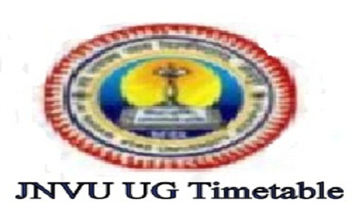 jnvu time table 2021