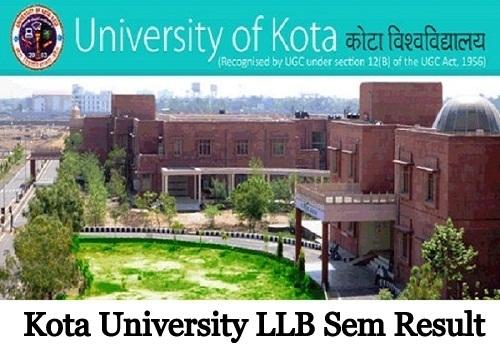 Kota University LLB Result 2020