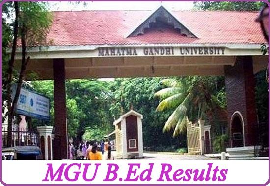 MGU B.Ed Results 2021