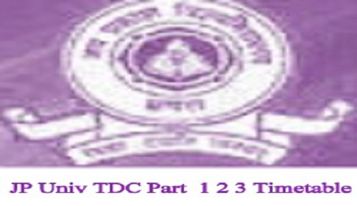 JP University Time Table 2021