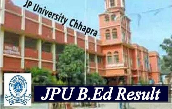 JPU B.Ed Result 2021