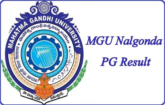MGU Nalgonda PG Result 2020
