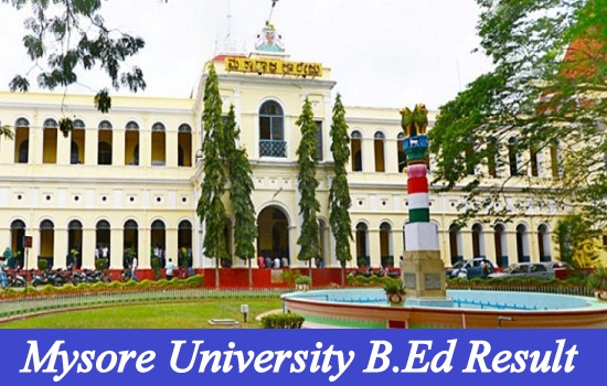 Mysore University B.Ed Result 2020