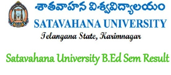 Satavahana University B.Ed Results 2020