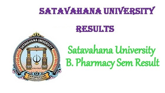Satavahana University B.Pharmacy Result 2020