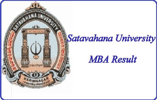 Satavahana University MBA Result 2020