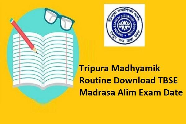 Tripura Madhyamik Routine 2022
