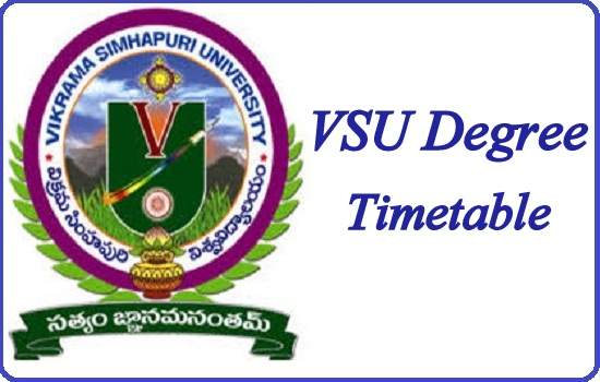 VSU Degree Time Table 2020