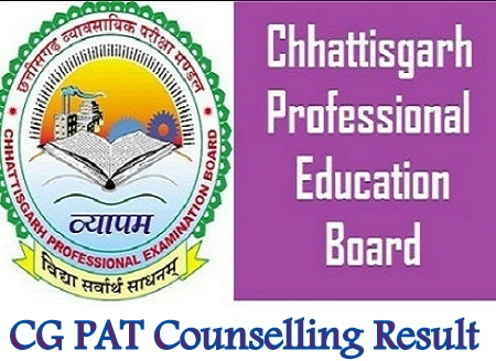 CG PAT Counselling Result 2019