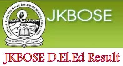JKBOSE D.El.Ed Result 2021