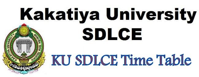 KU SDLCE Time Table