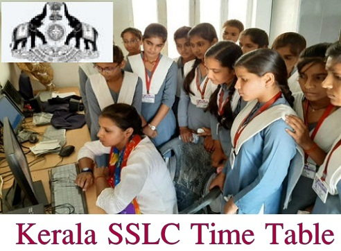 Kerala SSLC Time Table 2022