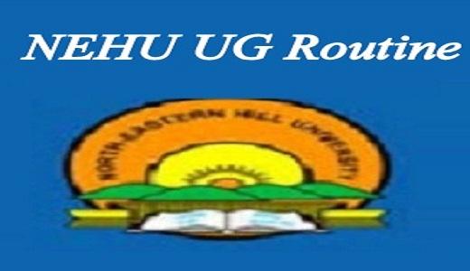 NEHU Exam Routine 2019