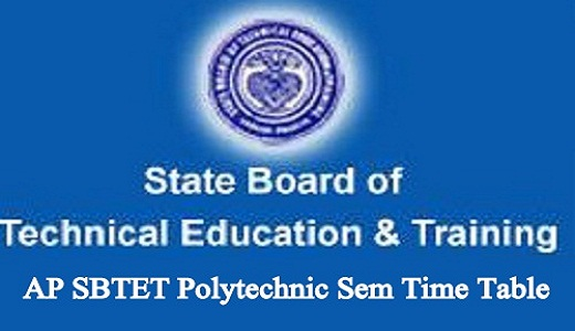AP SBTET Time Table 2019