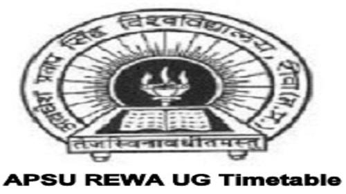 APSU Rewa Time Table 2020