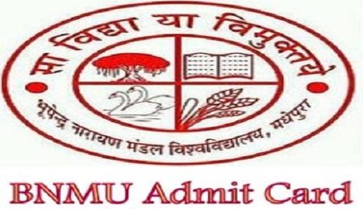 BNMU Admit Card 2020