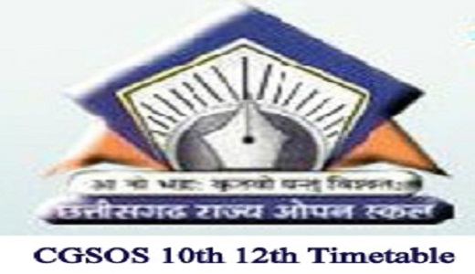 CGSOS Time Table 2020