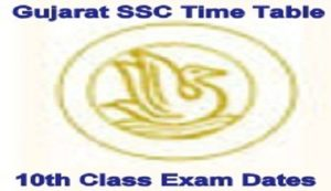 Gujarat SSC Time Table 2022