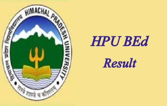 HPU BEd Result 2021