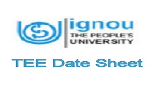 IGNOU Date Sheet December 2019