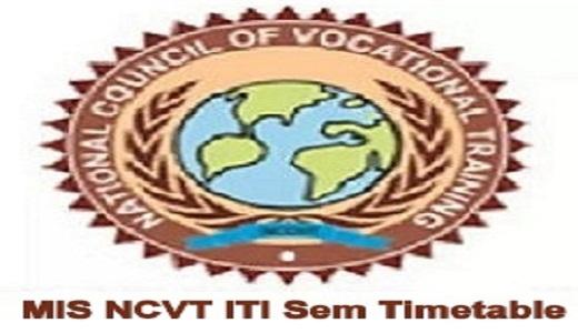 NCVT MIS ITI Time Table 2021